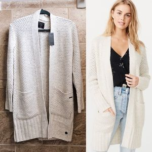 ✨New ABERCROMBIE & FITCH Open Front Knit Cardigan